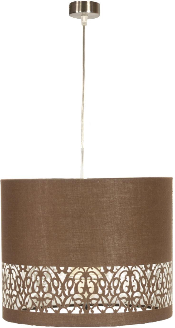 Candellux ARABESCA 31-19519 lampa wisząca abażur tkanina 1X60W E27 brąz 33cm