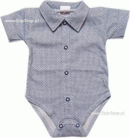 Body dla dzieci koszulowe z ko nierzykiem kr łtki r kaw Franek Elegancik