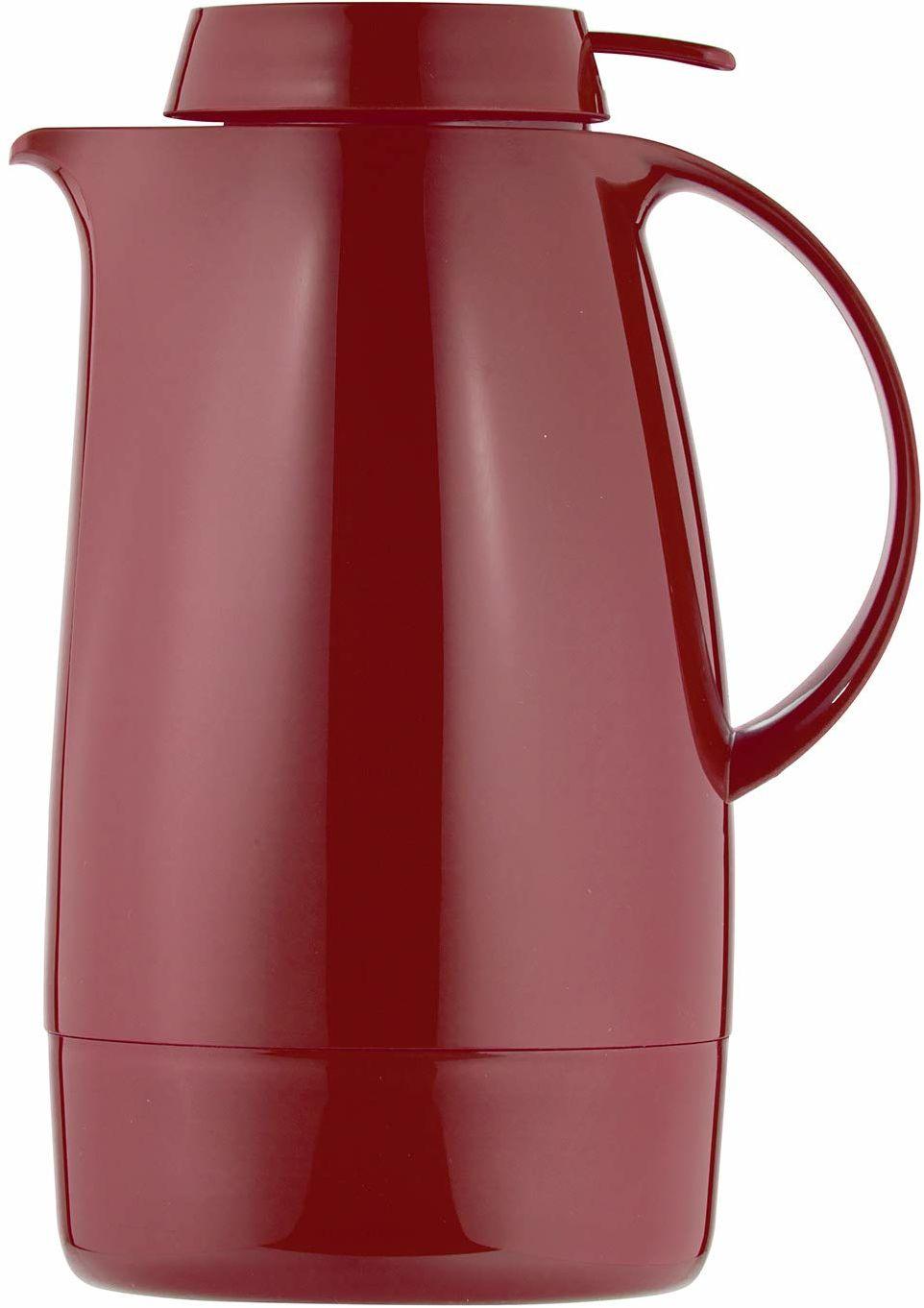 Helios Servitherm termos, 1,3 litra, tworzywo sztuczne, czerwony, obsługa jedną ręką