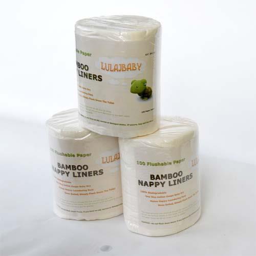 biodegradowalne bambusowe bibułki do pieluszek wielorazowych