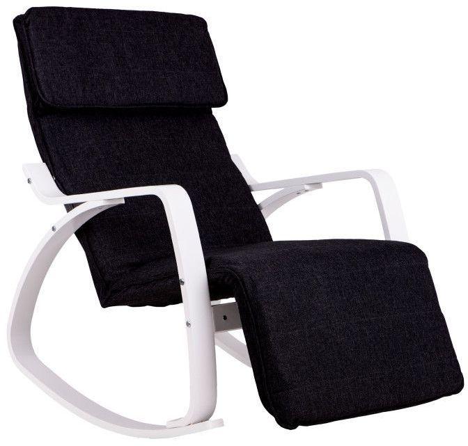Fotel bujany GOODHOME /biało-czarny/