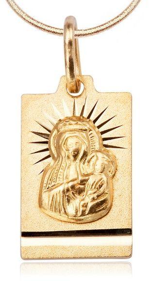 Staviori Wisiorek. Medalik. Żółte Złoto 0,333. Wymiary 8x12 mm. Długość 17 mm.