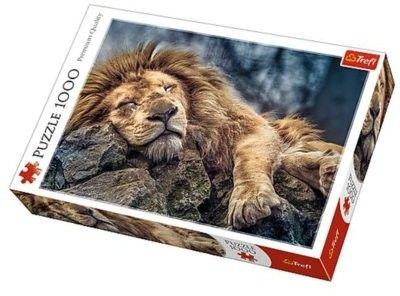 Puzzle TREFL 1000 - Śpiący lew, Sleeping lion