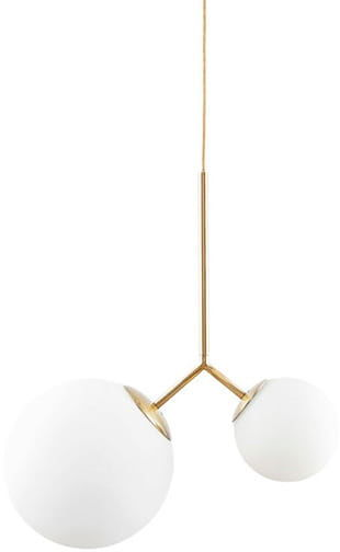 Mleczna kula Y - nowoczesna lampa wisząca