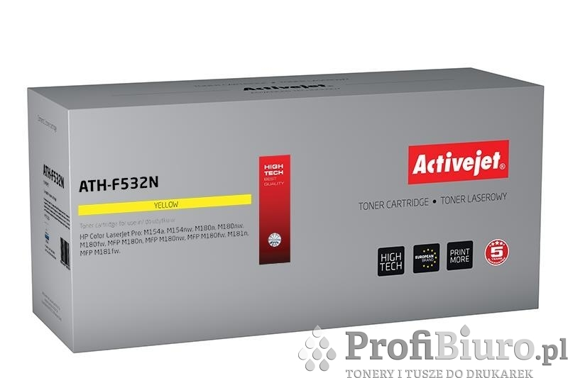 Toner Activejet ATH-F532N (zamiennik ; Supreme; 900 stron; żółty)