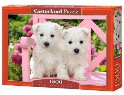 Puzzle Castorland 1500 - Dwa białe pieski, White Terrier Puppies