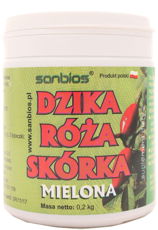 Dzika róża skórka proszek - Sanbios - 200 g
