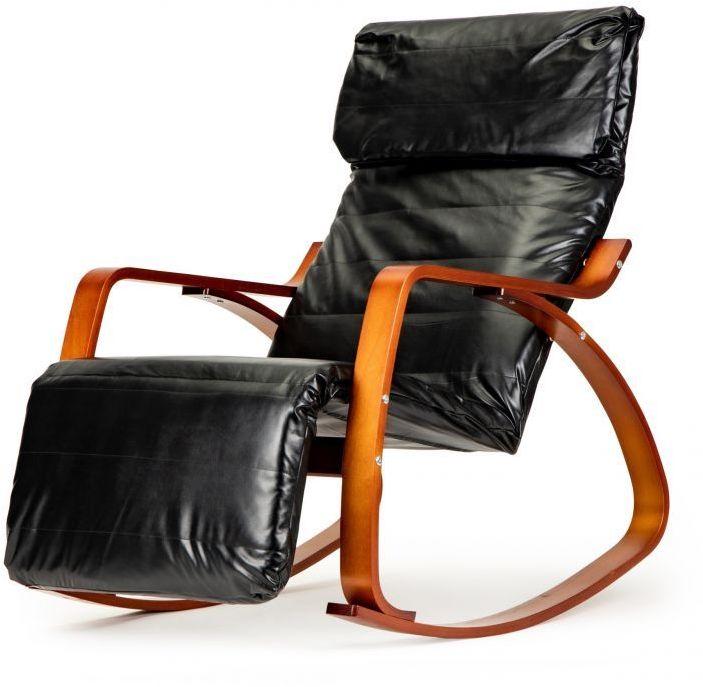 Fotel bujany GOODHOME ekoskóra /czarny/