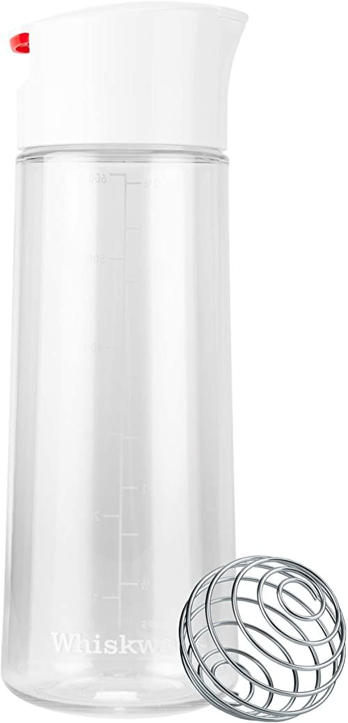 Whiskware 600021 trytanowy shaker do dressingów, plastikowy, biały