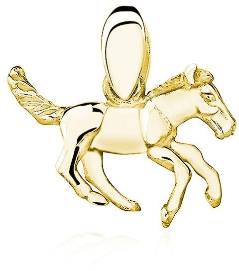 Elegancki pozłacany srebrny wisior koń konik kucyk srebro 925 KS0078G