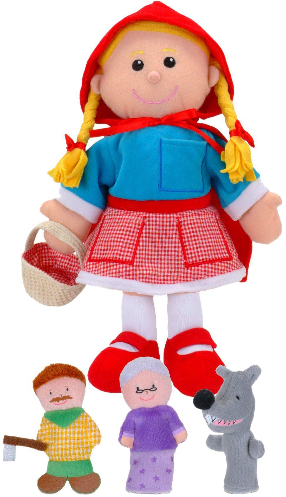 Fiesta Crafts T-2686 - zestaw dłoni/lalek Czerwony Kapturek