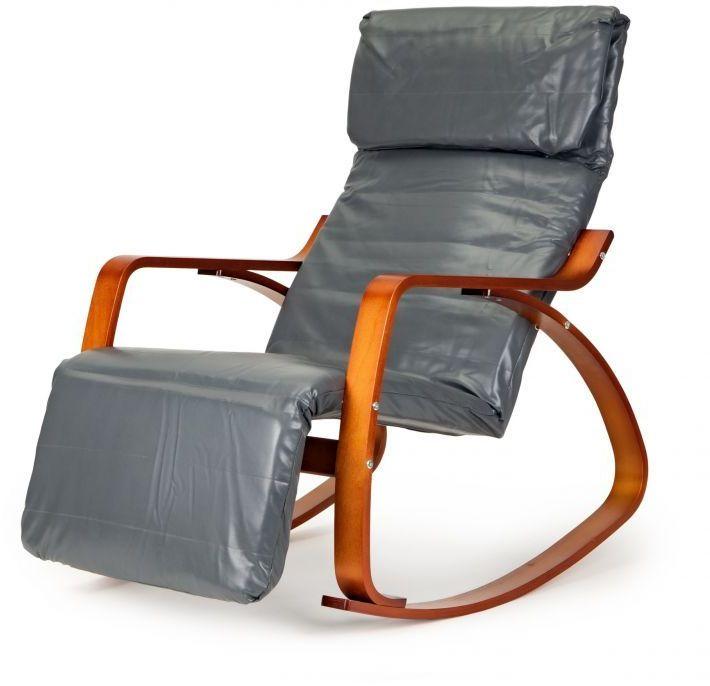 Fotel bujany GOODHOME ekoskóra /szary/