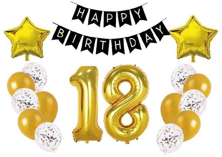 Zestaw dekoracji na 18 urodziny 400489