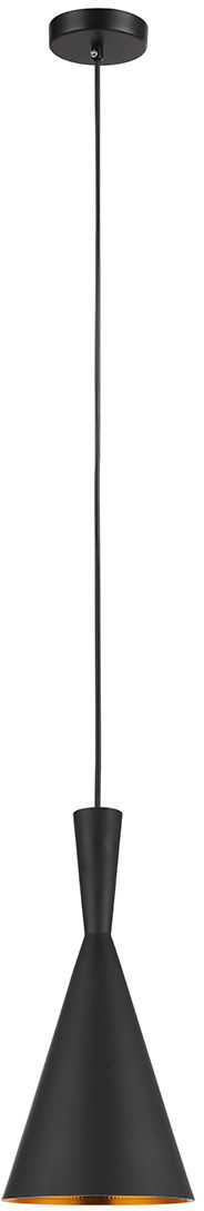 Italux lampa wisząc Pedro MDM-2361/1 metalowa czarny mosiądz 19cm