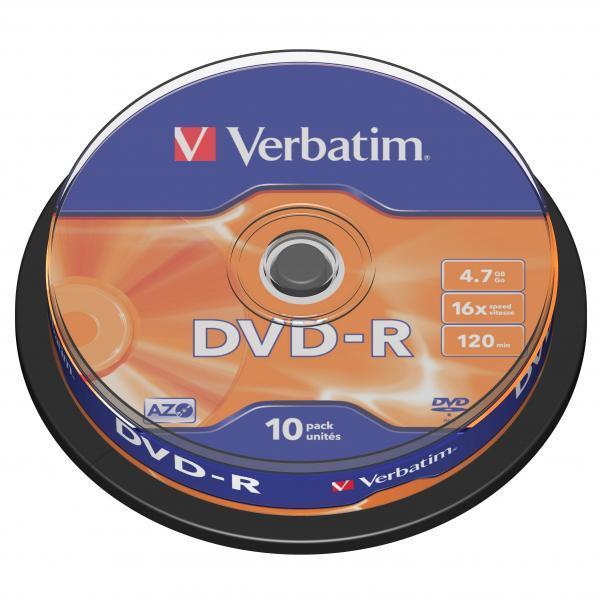 Płyta DVD-R Verbatim 4.7GB Cake 10szt.