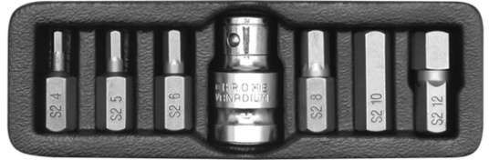 Końcówki wkrętakowe hex, kpl. 7 szt. Yato YT-0412 - ZYSKAJ RABAT 30 ZŁ