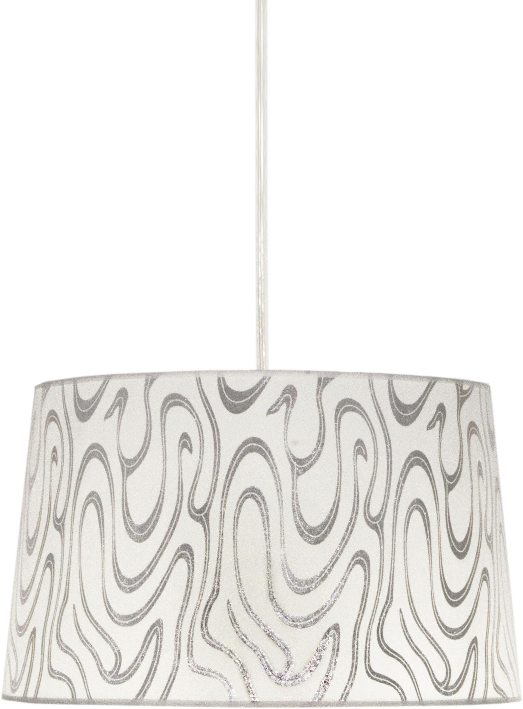 Candellux TIGER 31-94462 lampa wisząca biało-srebrna abażur 1X60W E27 40cm