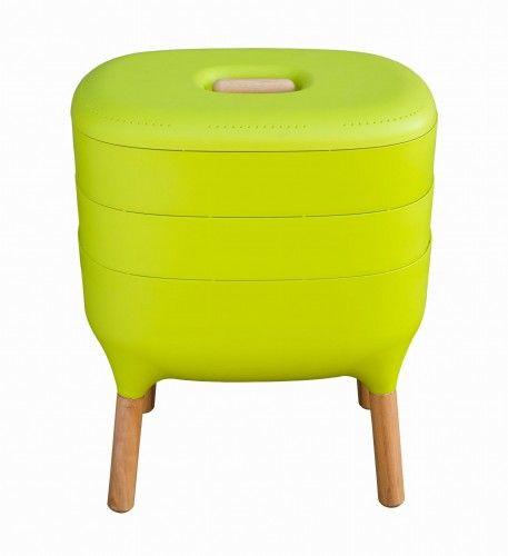 BIO Kompostownik do domu mieszkania bezzapachowy 60,5x50,5 cm zielony