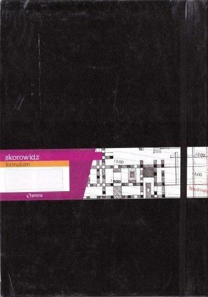 Skorowidz A4 Formalizm czarny ANTRA