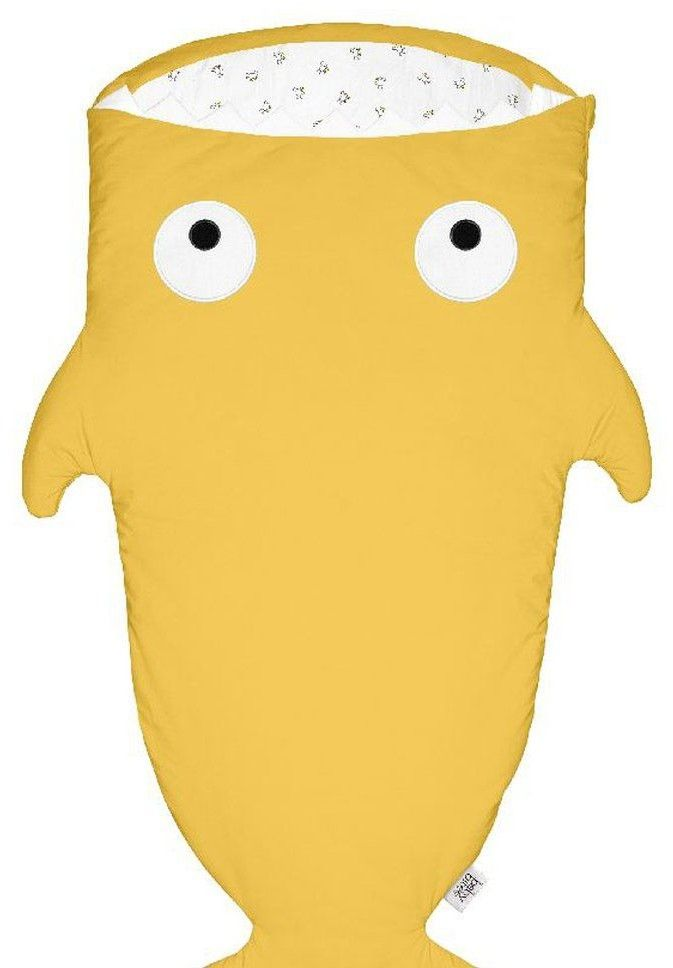 Baby Bites - Śpiworek Letni Shark (2 - 6 Lat) Mustard Yellow