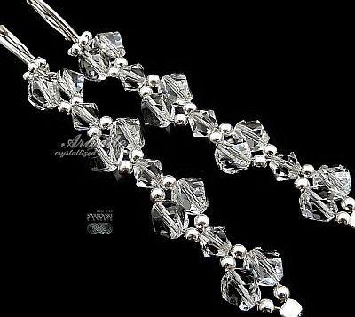 Kolczyki SWAROVSKI piękne grona kryształowe ślubne