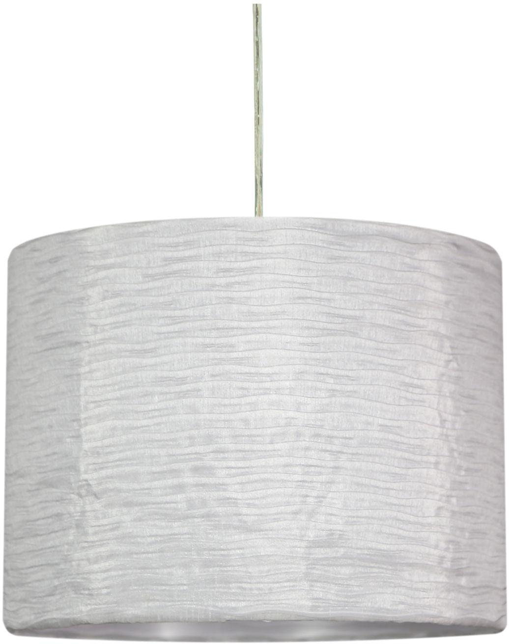 Candellux SUMMER 31-29836 lampa wisząca plisowana tkanina 1X60W E27 biały 30cm