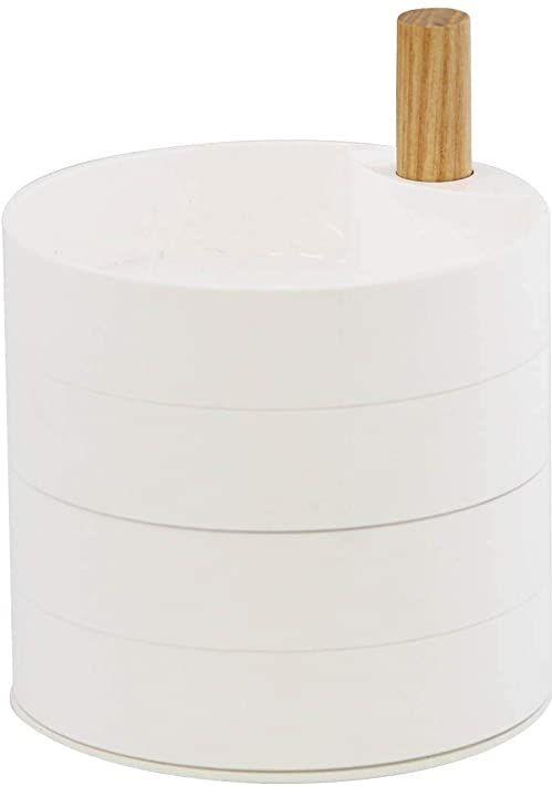 Tosca pudełko na biżuterię z 4 poziomami, białe