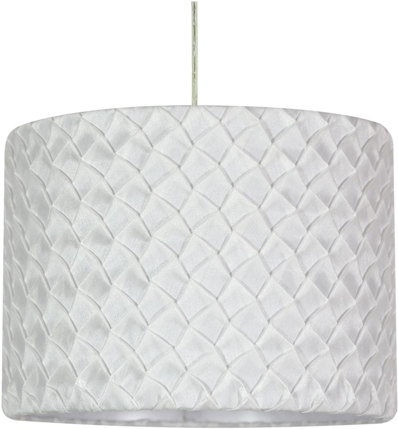 Candellux SUSAN 31-29843 lampa wisząca plisowana tkanina biała 1X60W E27 31cm