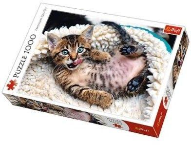 Puzzle TREFL 1000 - Wesoły kotek, Cheerful kitten
