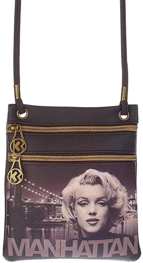 KARACTERMANIA Marilyn Monroe Manhattan-Action Mini Pionowa torba na ramię, brązowa
