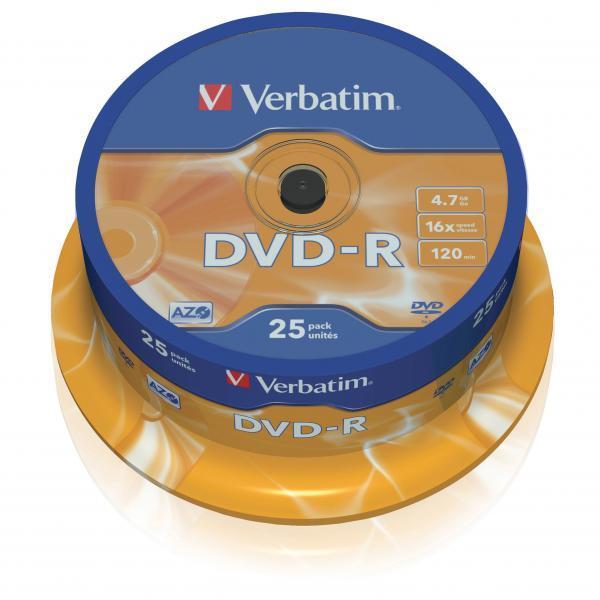 Płyta DVD-R Verbatim 4.7GB Cake 25szt.