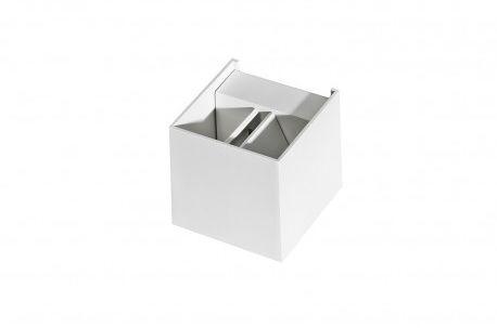 Kinkiet Leticia AZ0951 AZzardo biała oprawa w nowoczesnym stylu