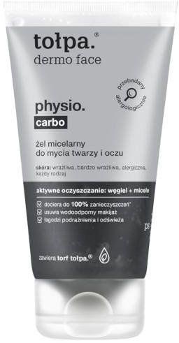 Tołpa Dermo Face Physio. Carbo żel micelarny do mycia twarzy i oczu 150 ml