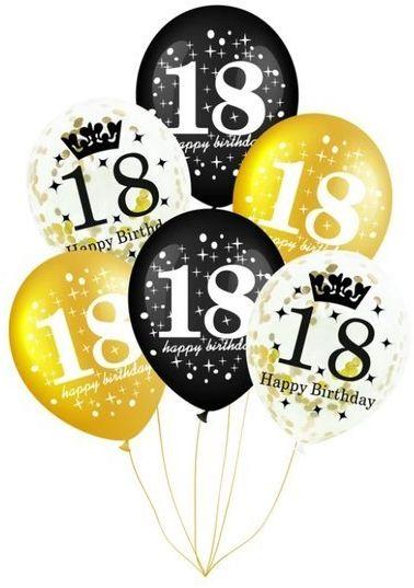 Balony na 18 urodziny 6 sztuk 400150