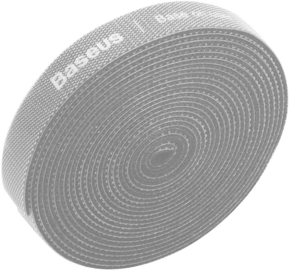 Taśma rzepowa, organizer kabli Baseus Rainbow Circle Velcro Straps 3m (szary)