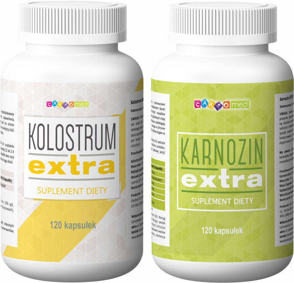 2pak - Karnozin extra (120 kps) + Kolostrum extra Pure Gold (90 kps)