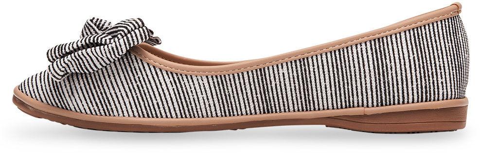 Balerinki damskie Ideal Shoes M-8805 Czarne