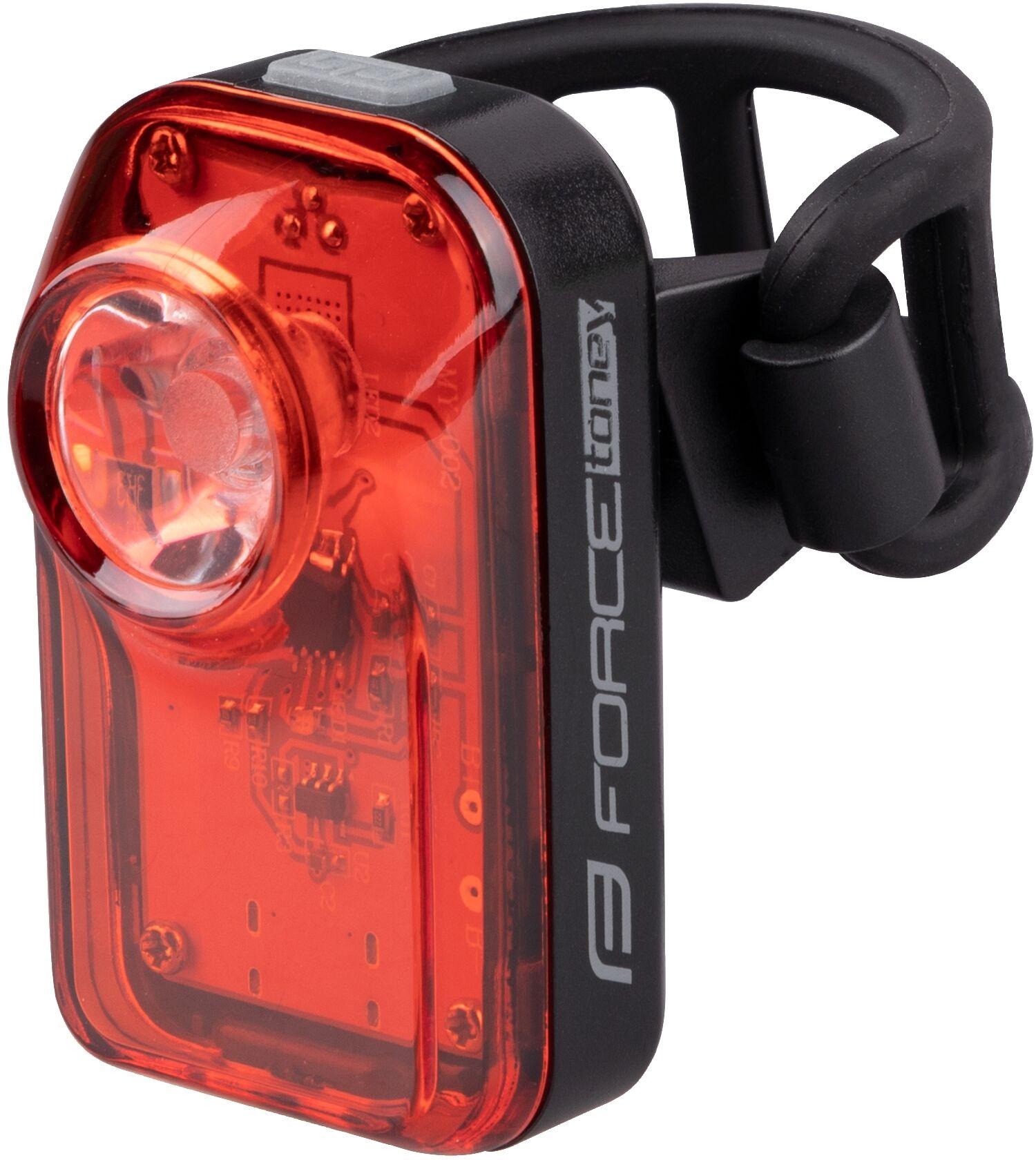 FORCE Lampka rowerowa tylna TONEY 70 LM, 1 x LED, USB 453739,8592627166051