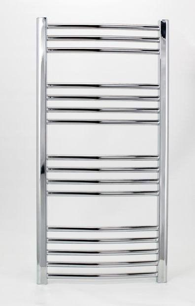 Grzejnik łazienkowy york - wykończenie zaokrąglone, 500x1000, chromowany