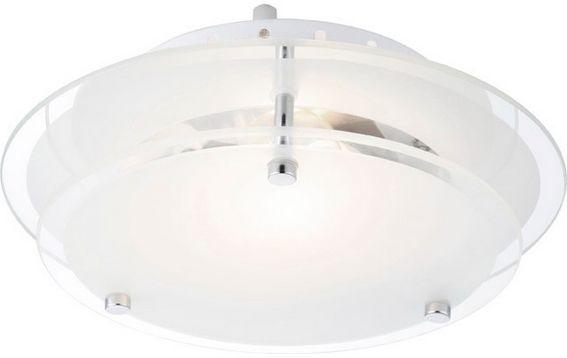 Globo plafon lampa sufitowa Indi 48167 szkło czyste satynowane 23cm
