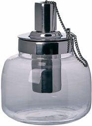 Better & Best Palnik olejowy, z uchwytem ze szkła, łańcuszek 12,50 x 12,50 x 15,00 cm, srebrny