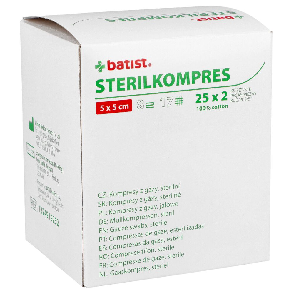 Kompresy z gazy Sterilkompres (17N 8W) (Batist)