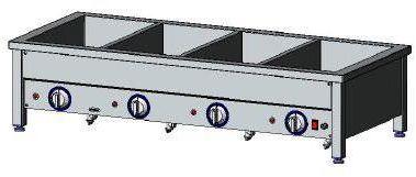 Bemar elektryczny nastawny 4xGN1/1 EGAZ BE-4NS