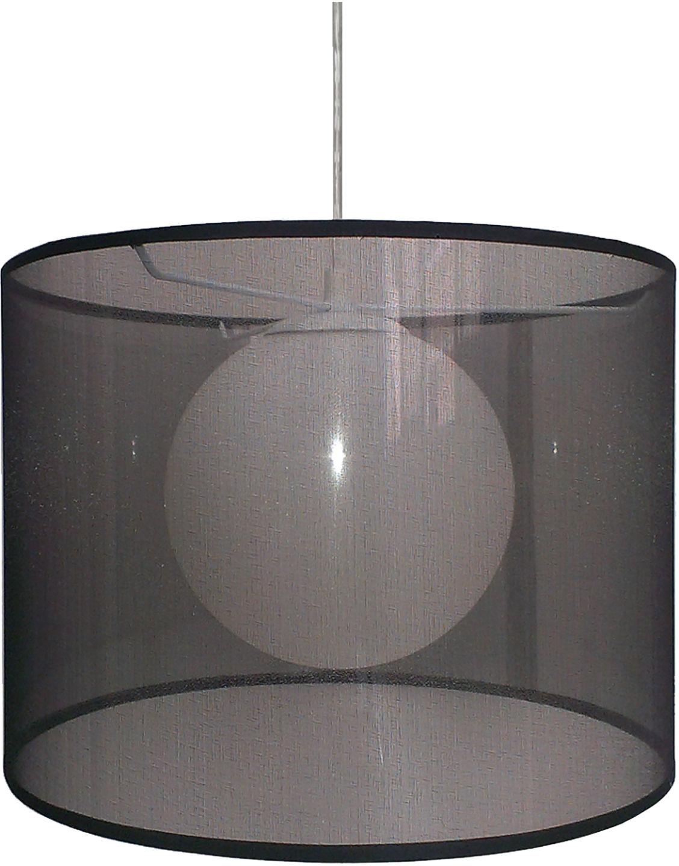 Candellux CHICAGO 31-24879 lampa wisząca klosz abażur czarny szklana kula 1X60W E27 35cm
