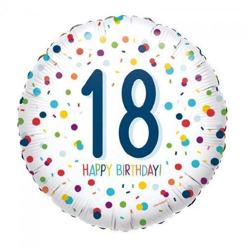 Balon foliowy na 18 urodziny Confetti