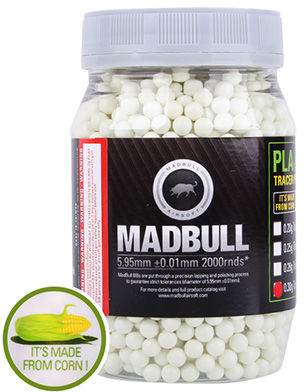 Kulki ASG MadBull 0,30g 2000 szt. Tracer Eco Friendly PLA BIO (18917) SP