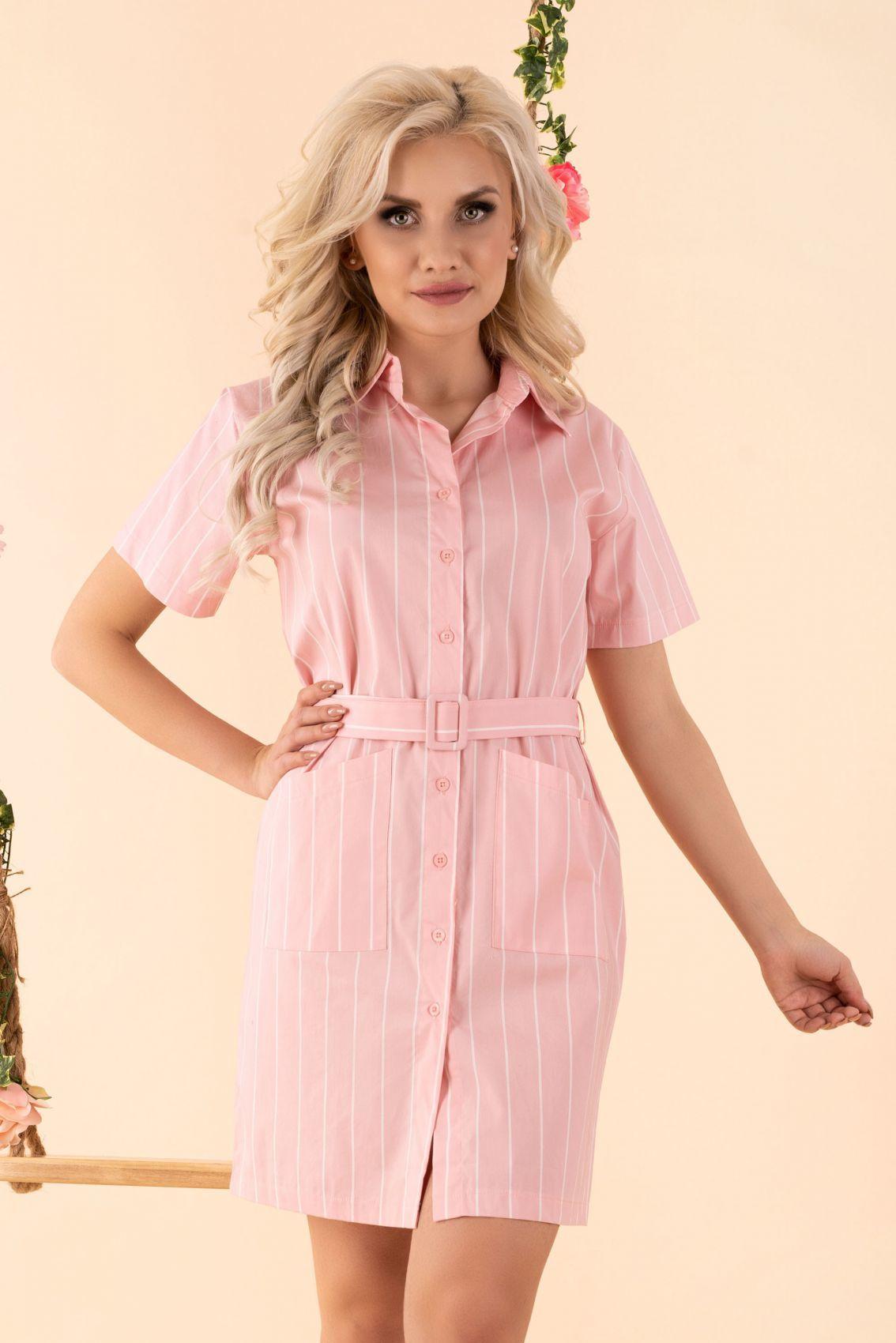 Linesc Pink D88 sukienka