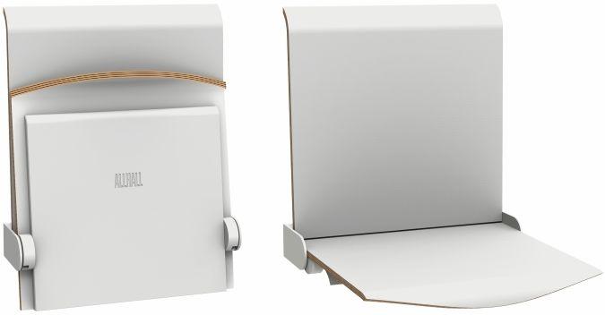 Straponten - naścienne siedzisko profilowane z oparciem składane automatyczne (TPS1A) ALLHALL