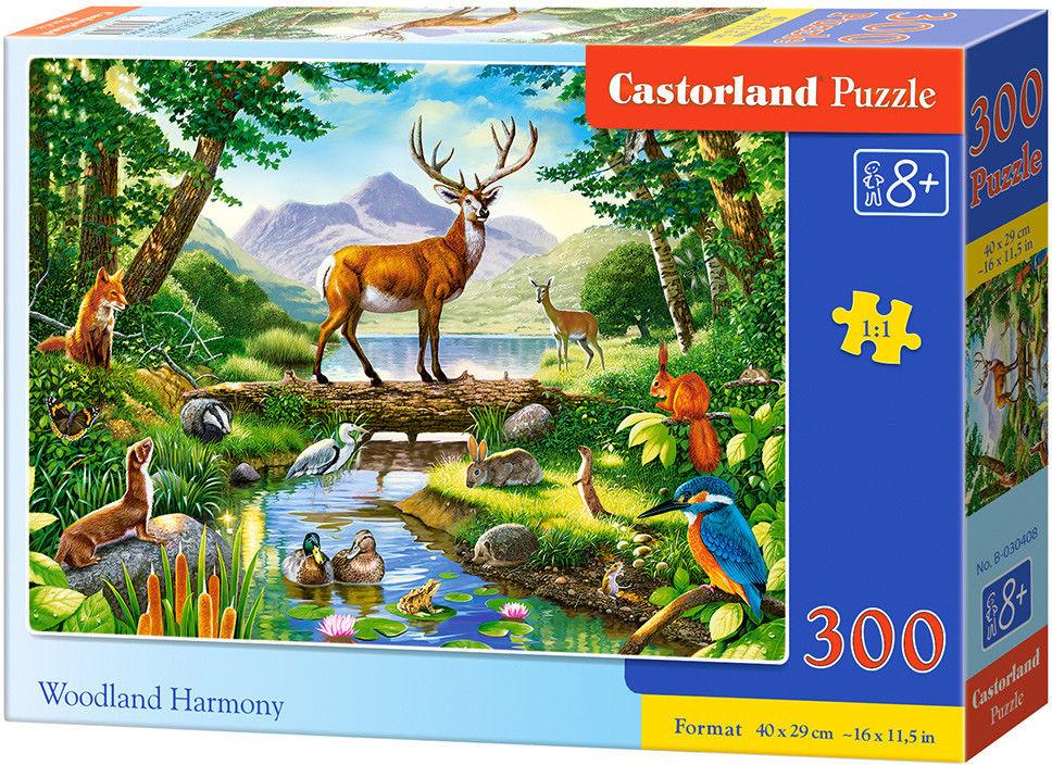 Puzzle Castor 300 - Leśna harmonia, Woodland Harmony