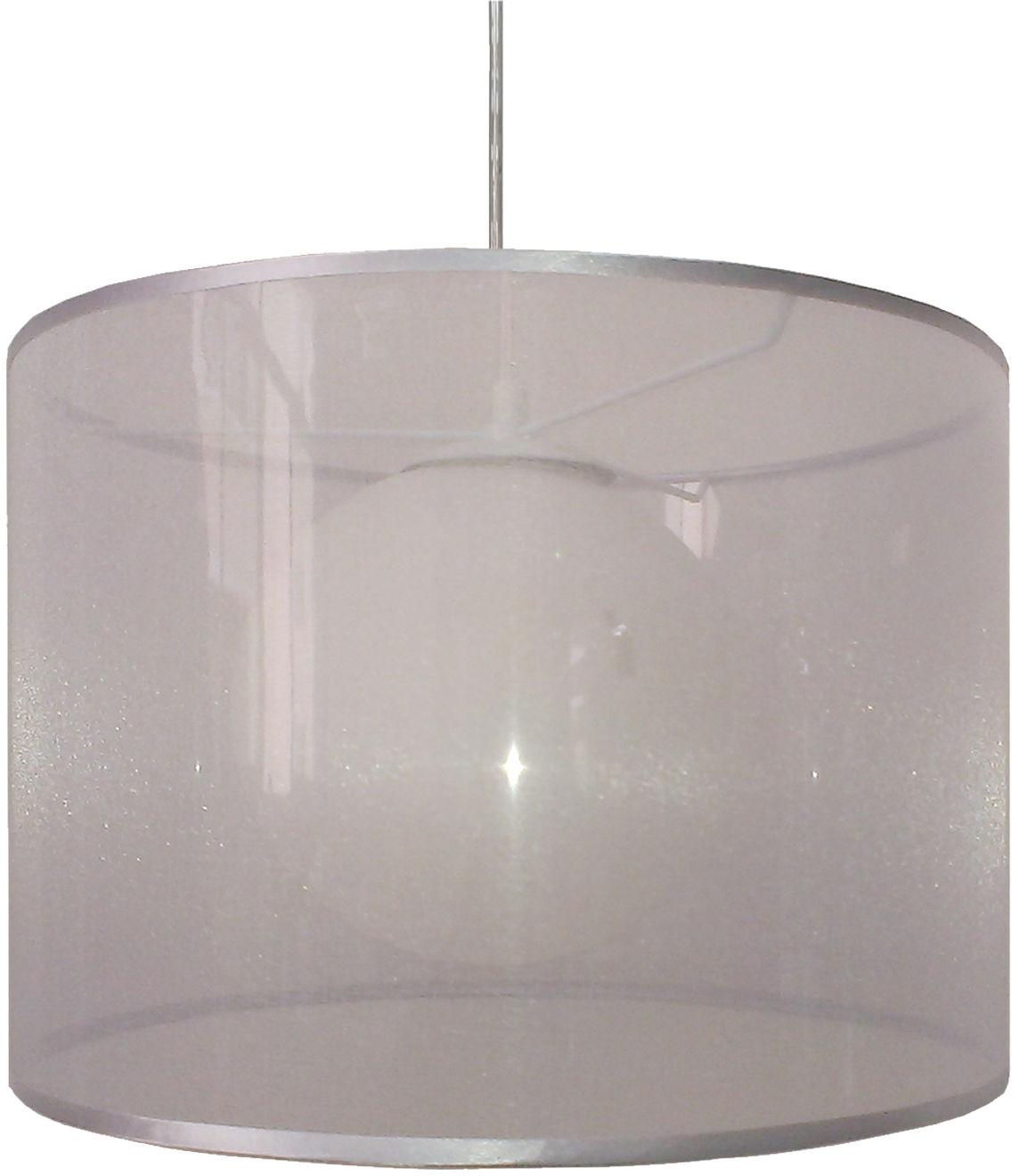 Candellux CHICAGO 31-24916 lampa wisząca srebrna abażur szklany klosz 1X60W E27 35cm